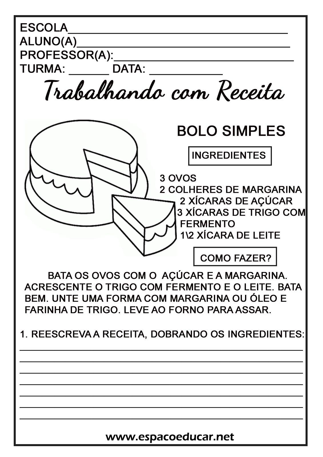 Conhecido RECEITA-BOLO-ESPACO-EDUCAR-ATIVIDADE-TEXTO.jpg (1131×1600) | at  LX78