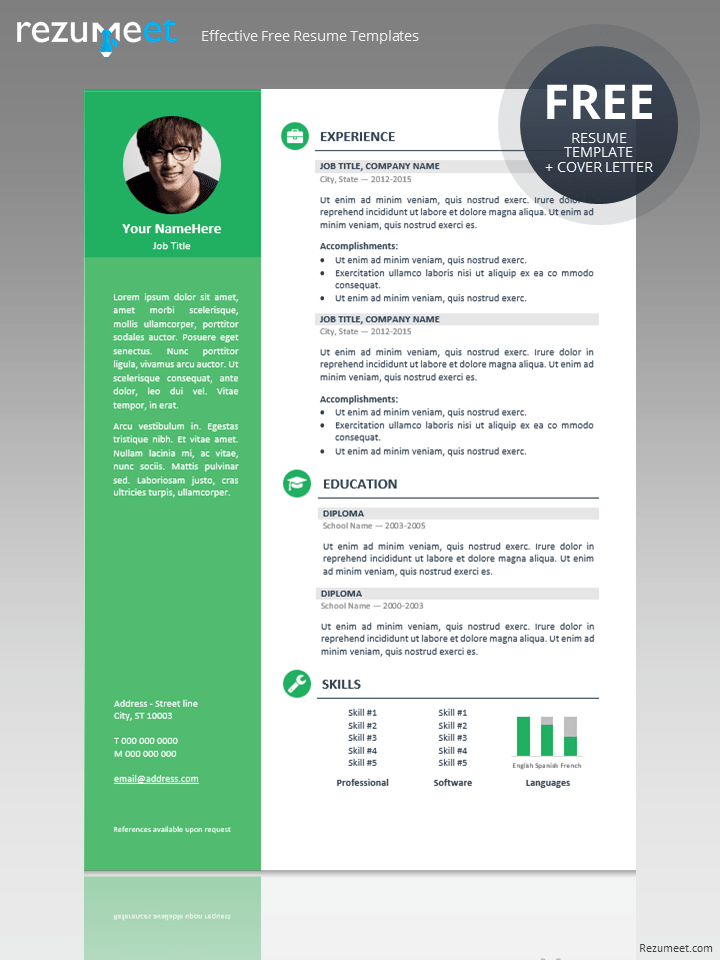 Cv Free Templates%0A Free professional resume template