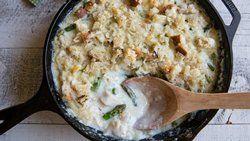 Chicken-Asparagus Skillet Gratin