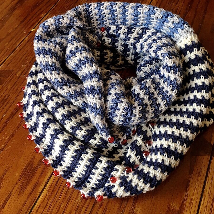 The Rebecca Mobius Scarf free pattern is finally here! Create this ...