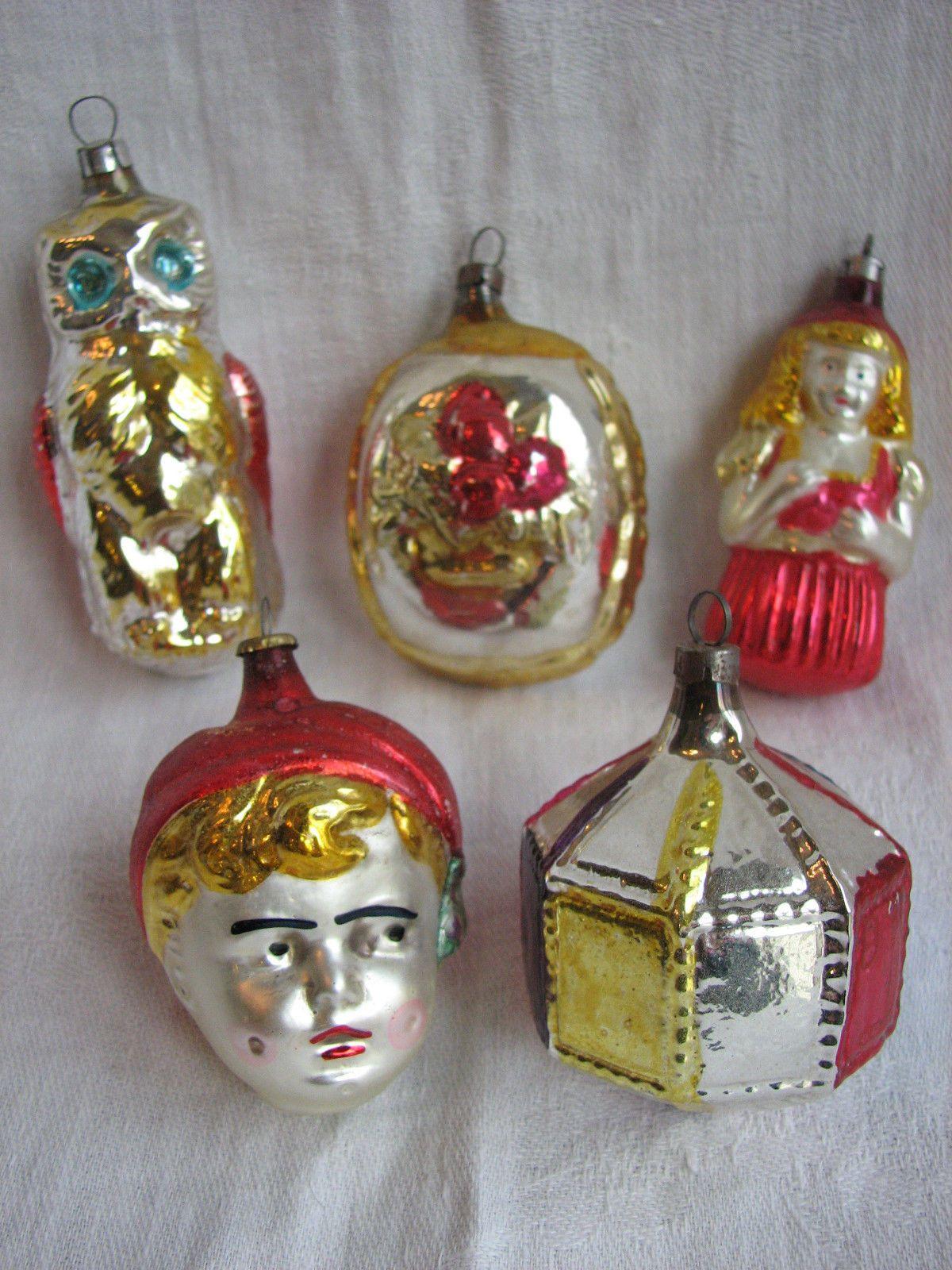 Vintage Mercury Glass Christmas Ornaments Czechoslovakia Germany Ow Vintage Mercury Glass Christmas Ornaments Vintage Christmas Decorations Christmas Ornaments