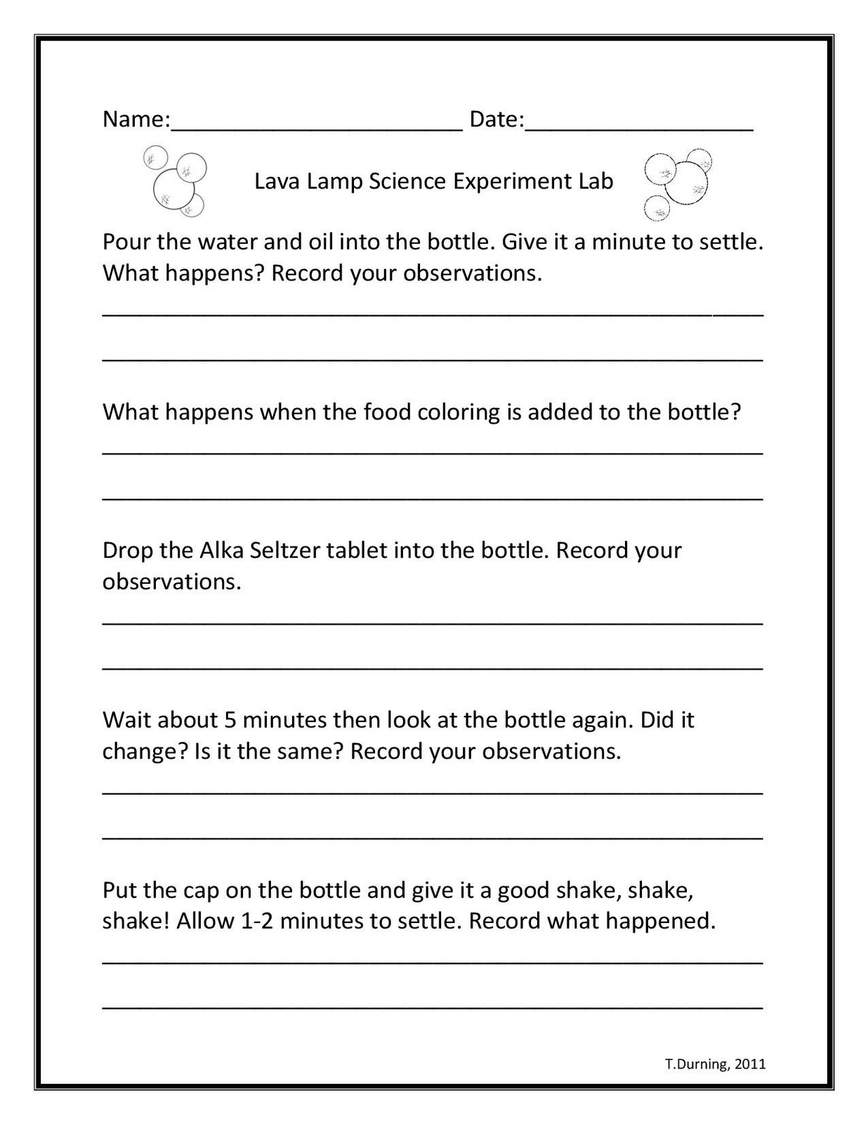 hight resolution of Lava Lamp Science Experiment   Science worksheets