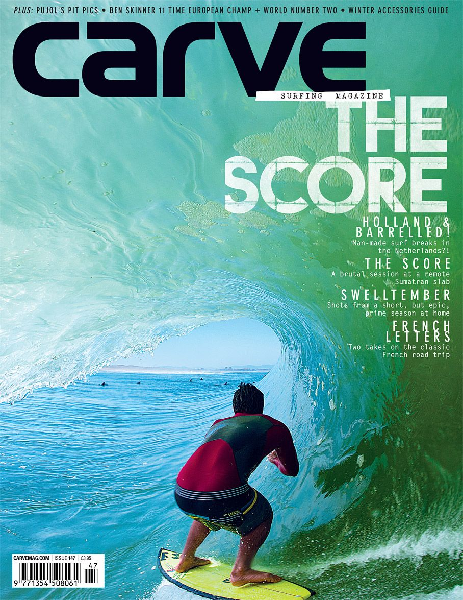 Really great cover from Carve mag, the angle of picture is very different from the other kind of picture that there is usually on surf mag