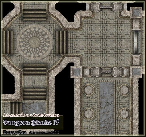 Dungeon Blanks IV - Dungeon Tiles