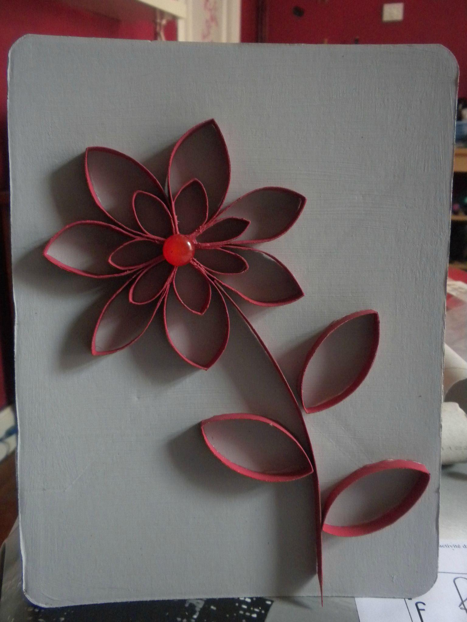 Decoration Fleur En Rouleaux Papier Toilette Ou Autres Vides Mymy