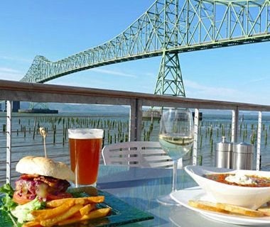 Make A Stop And Enjoy Dinner At One Of America S Best Outdoor Restaurants Bridgewater Bistro Astoria Or