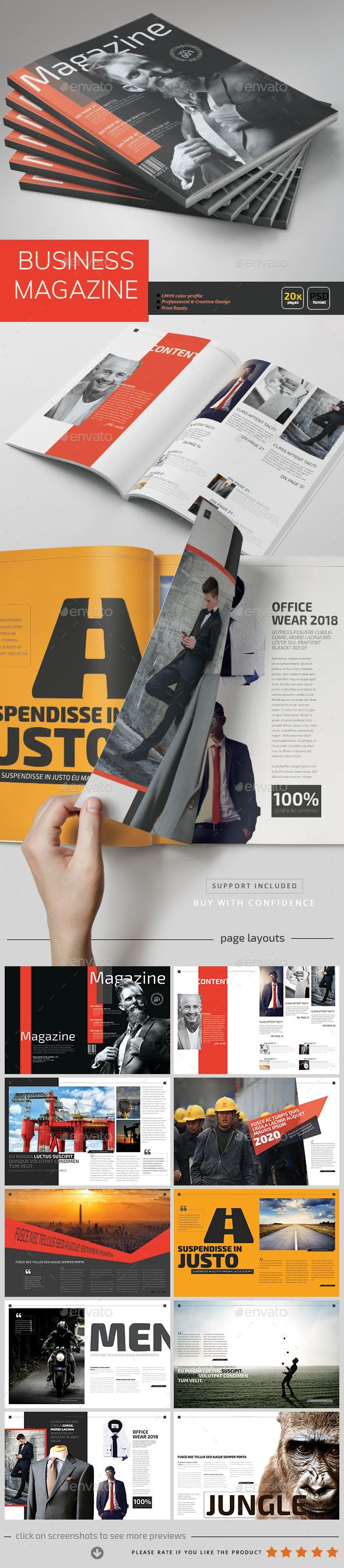 Business Magazine Template - PSD | Diario y Revistas