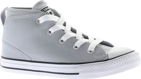 079238ddfbee Children s Converse Chuck Taylor All Star Syde Street Mid Leather - Wolf  Grey Wolf Grey White with FREE Shipping   Exchanges. Your little one will  find ...