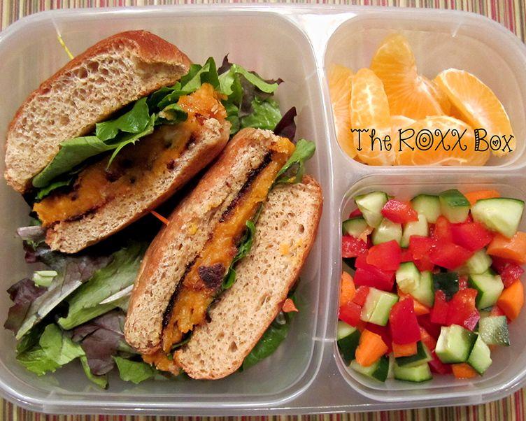 Sweet Potato Burger Bento Healthy Bentobox Lunch Greatist Health Box Ideas