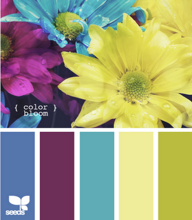 Violet Turquoise Blue Yellow And Green I Love This Color Palet If
