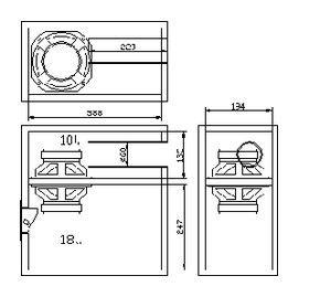 mini subwoofer 5 6 bandpass 4th order isobaric speaker plans rh pinterest com Crutchfield Subwoofer Wiring Diagram 2 Ohm Subwoofer Wiring Diagram