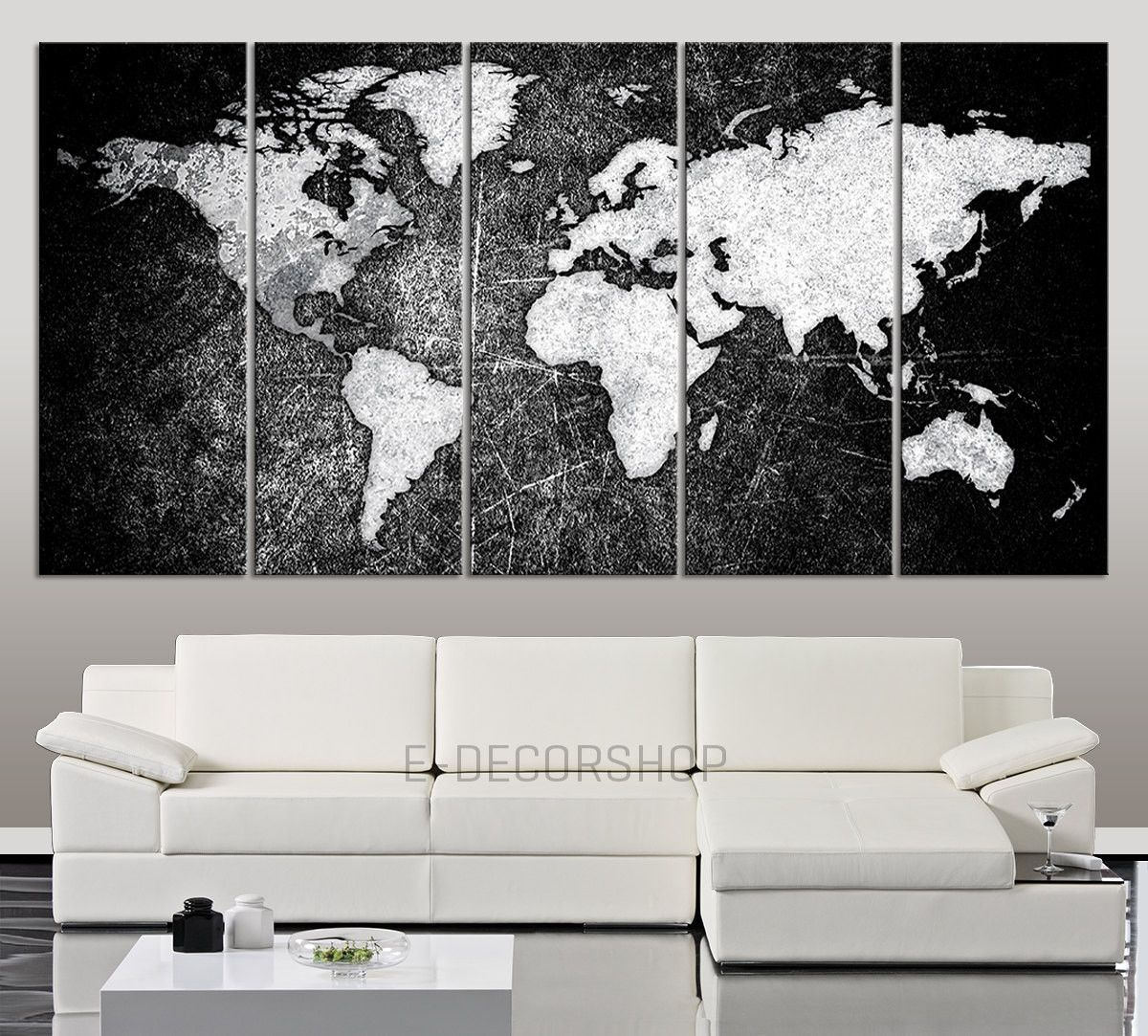 Large canvas art black white world map canvas print world map 5 large canvas art black white world map canvas print world map 5 piece canvas art print gumiabroncs Gallery