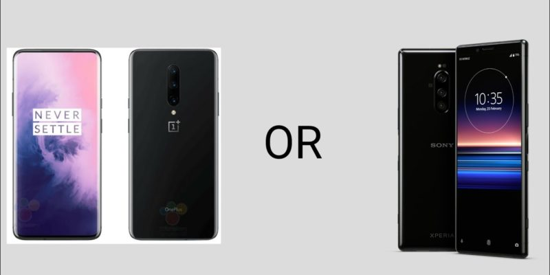 OnePlus 7 Pro vs Xperia 1 comparison, features and specs