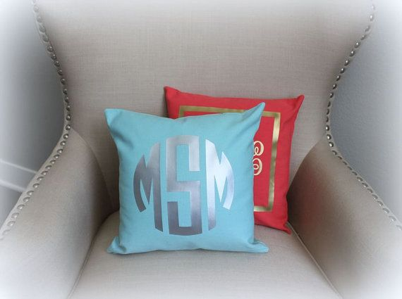 I liked these on her bed below the silvery curtains.  She didn't like them.  They already have a monogrammed pillow.  Saving for another project.   $35.00