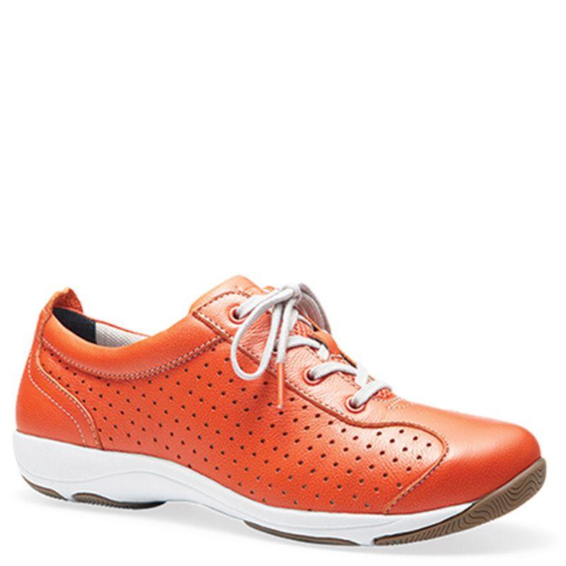 Dansko Hillary Sneaker Orange Leather - Free Shipping