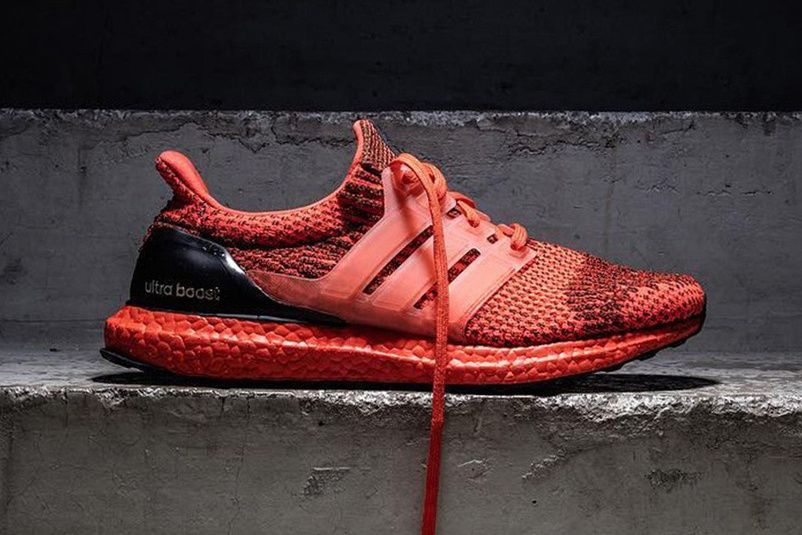 adidas UltraBOOST Red Sole adidas Originals three strips black heel ... 1bb2dde25d