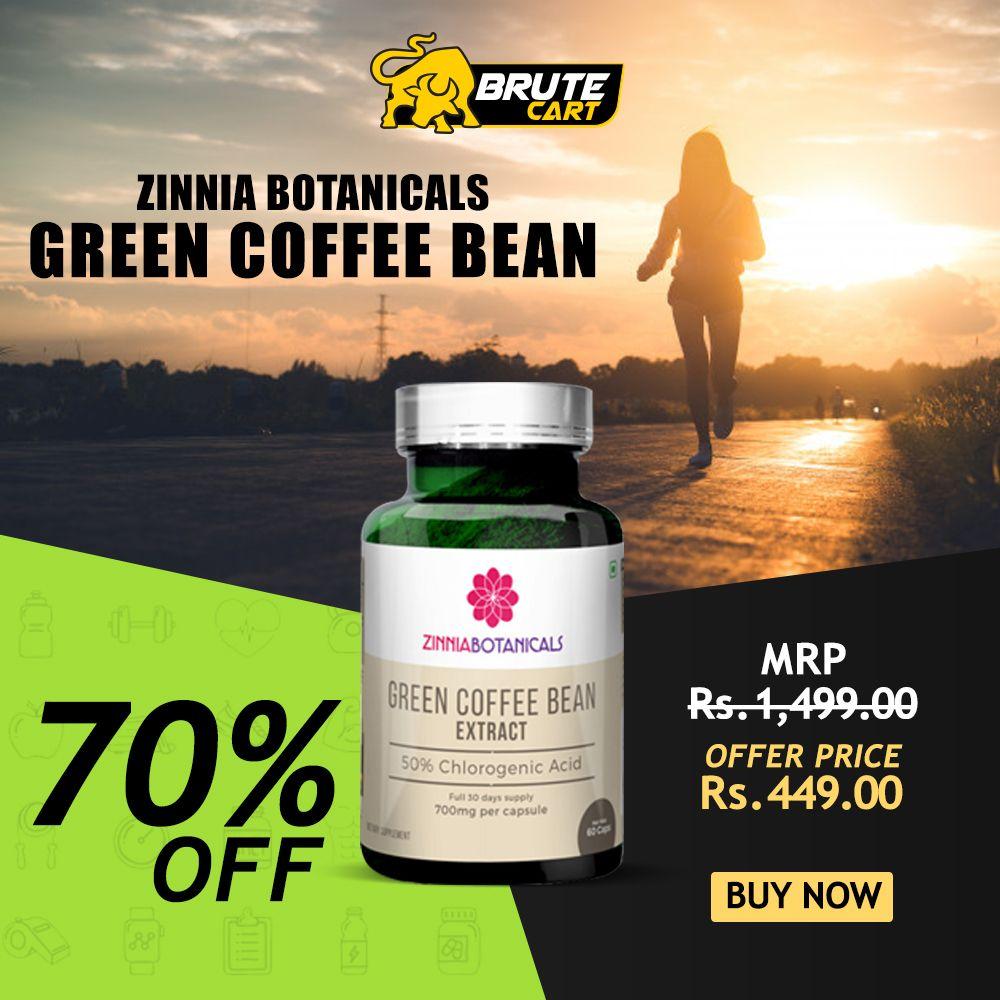 Zinnia Botanicals Green Coffee Bean Green Coffee Extract