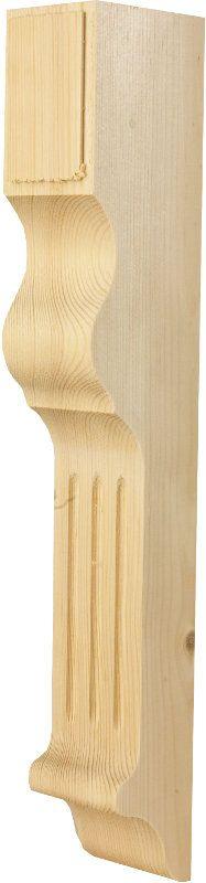 Gammaldags fönsterknekt i trä. Klassisk snickarglädje för utsmyckning av fönsterfoder. Välkommen till Sekelskifte och vår klassiska husdekoration!
