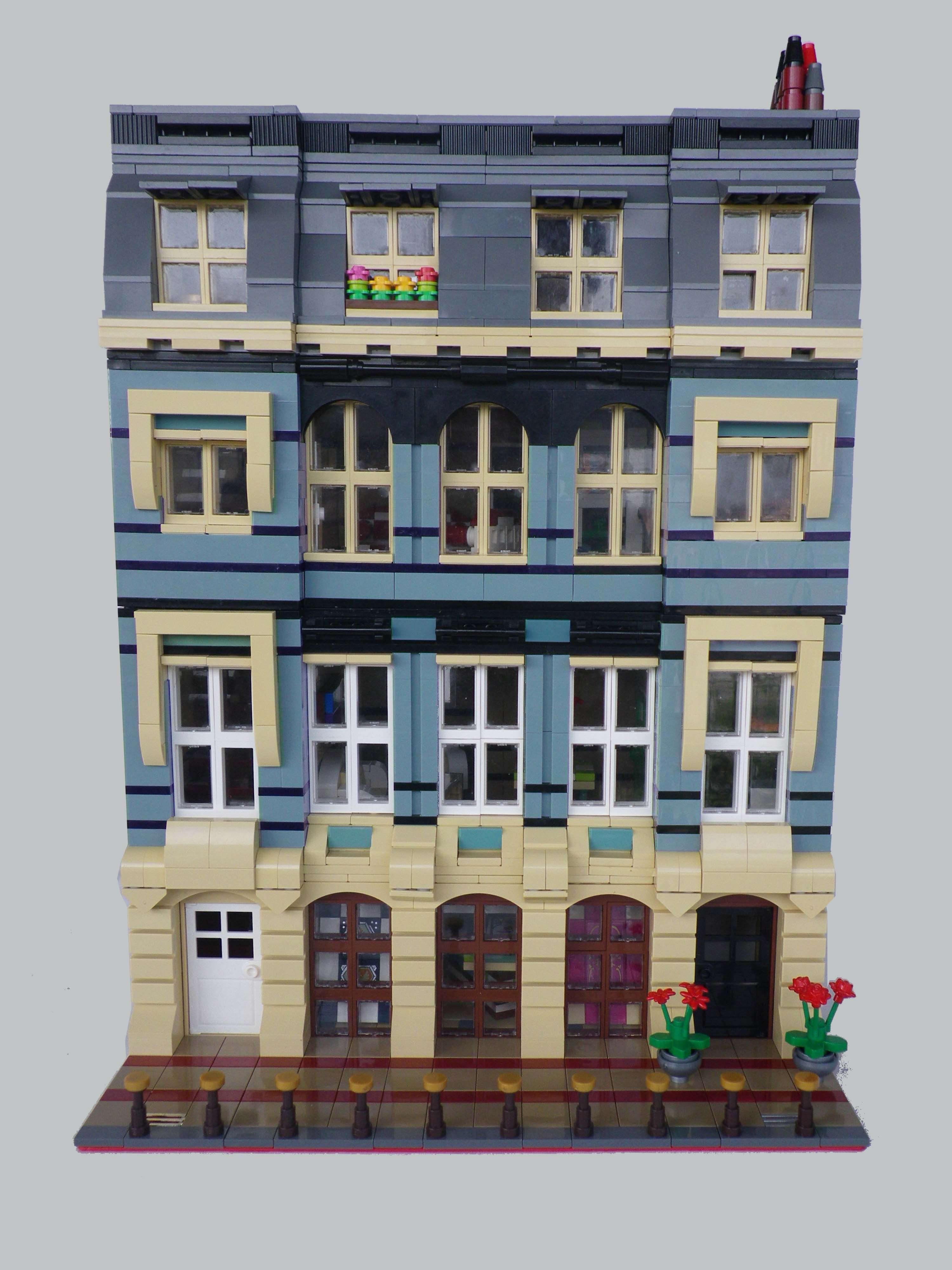 corner New York #33 CD Modular Super City Lego Custom Instructions cafe 10182