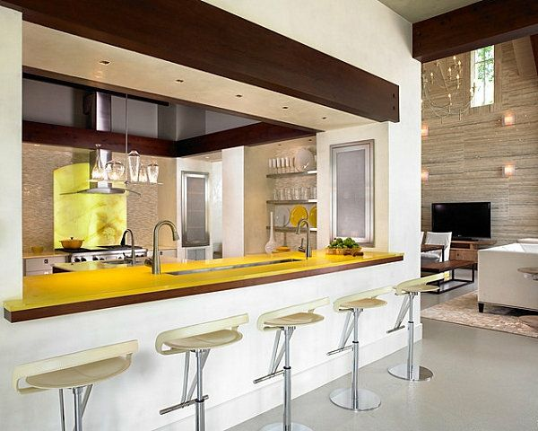 12 innovative Küchenbar Designs für eine moderne Kücheneinrichtung - amerikanische kuche