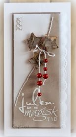 """Det är min tur att blogga på Pysslotekets Inspirationsblogg idag! Jag har gjort två julkort med med de vackra julstämplarna, """"Svenska Jult..."""