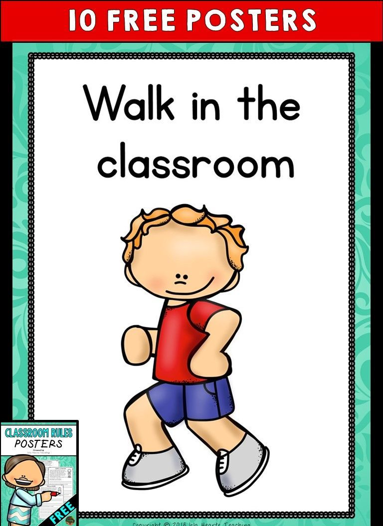 Classroom Rules Posters (FREE) -  -