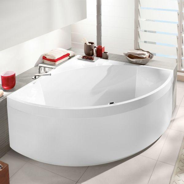 weiße eckbadewanne im super badezimmer Bathroom ideas Pinterest