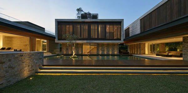 Concreto e madeira, sempre linda combinação! JKC2 House by ONG