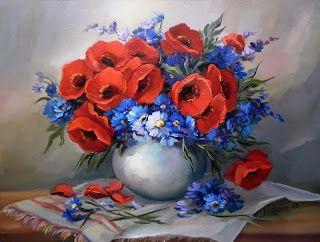 Коллекция картинок: Цветочные натюрморты. Художница Anca ...