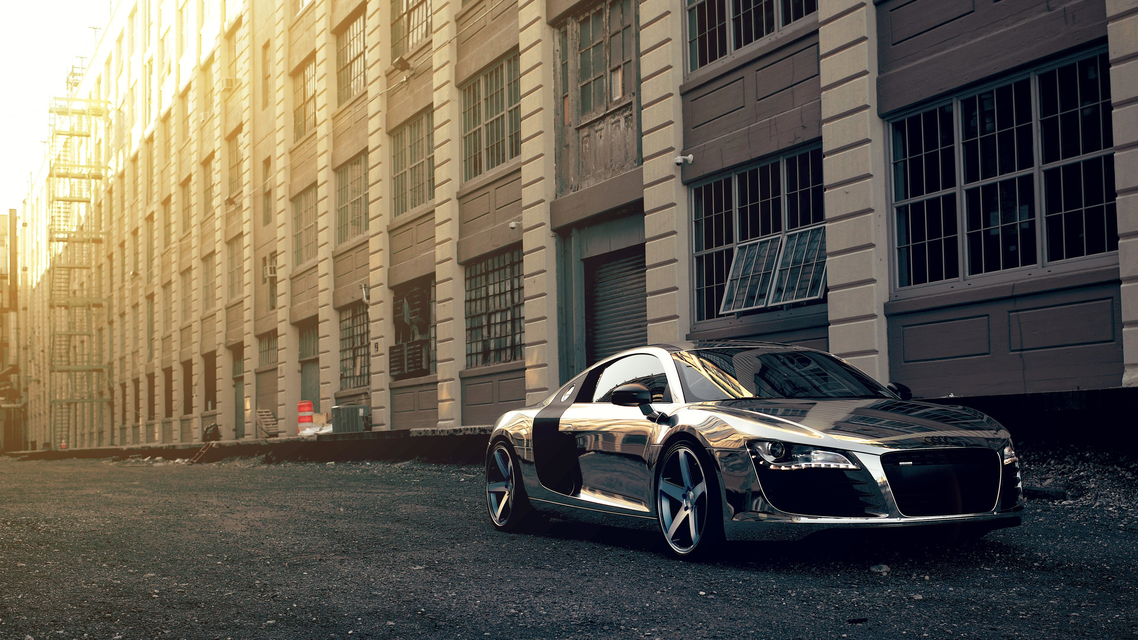 Audi R8 Chrome Ultra Hd 4k Wallpapers With Images Car
