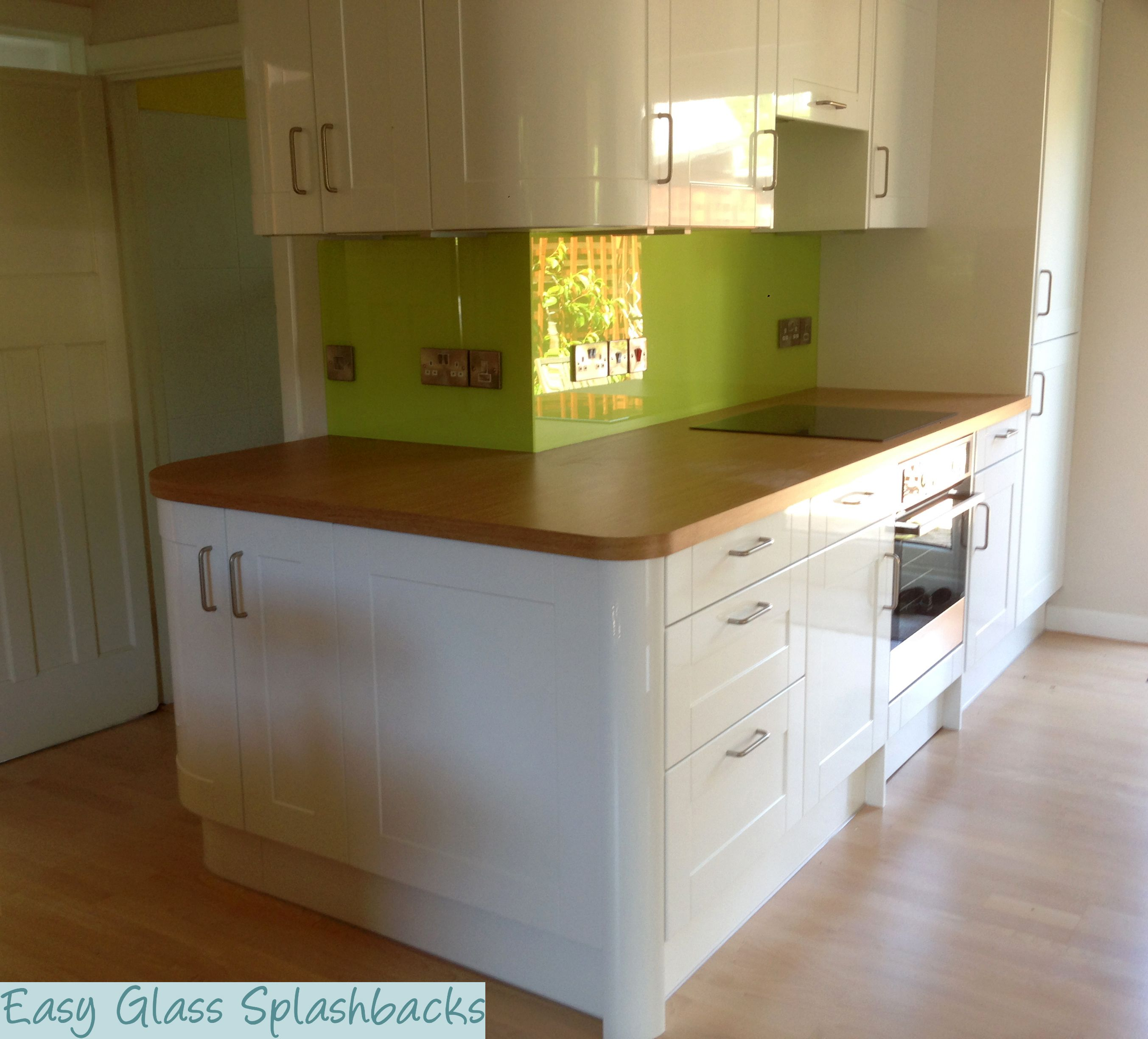 green kitchen worktops coloured amp printed glass splashbacks amp glass shower walls 1456