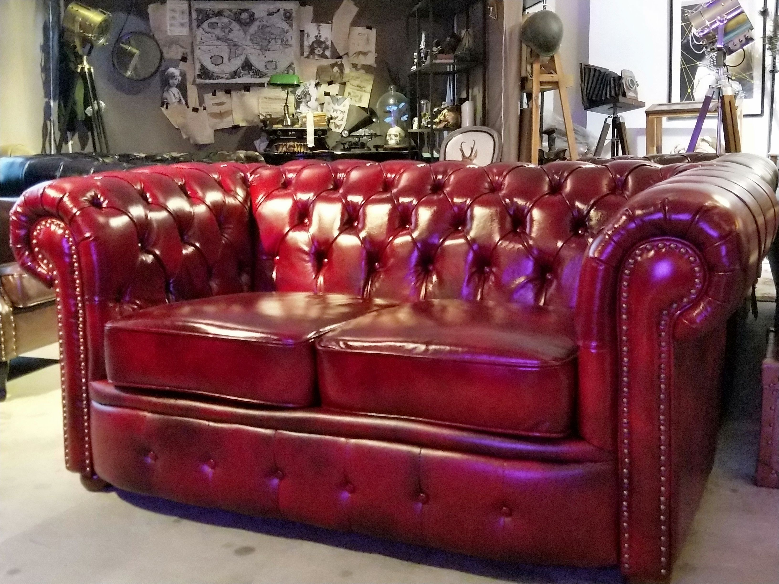 Superb Singapore Vintage Leather Sofa Oxblood Red Chesterfield Cjindustries Chair Design For Home Cjindustriesco