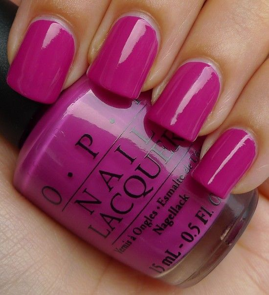 """Current color: OPI's """"Ate Berries in the Canaries"""""""