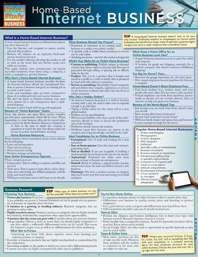 Home Based Internet Business Laminated Reference Guide Internet