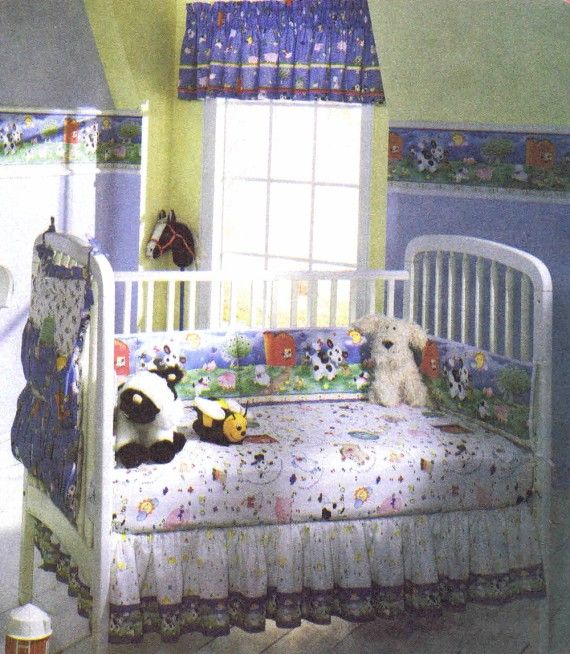 Old McDonald Baby Room Home Decor McCalls 8993 Sewing Pattern ...