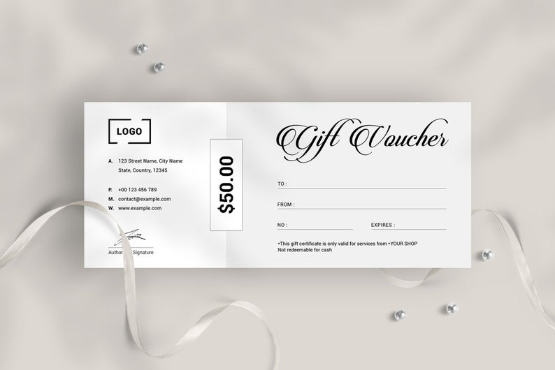 Minimal Gift Voucher Template Creative Gift Certificate Design Editable Gift Card Design Modern Gift Voucher Printable Gift Certificate Facebook Cover Design Minimal Gifts Gift Vouchers