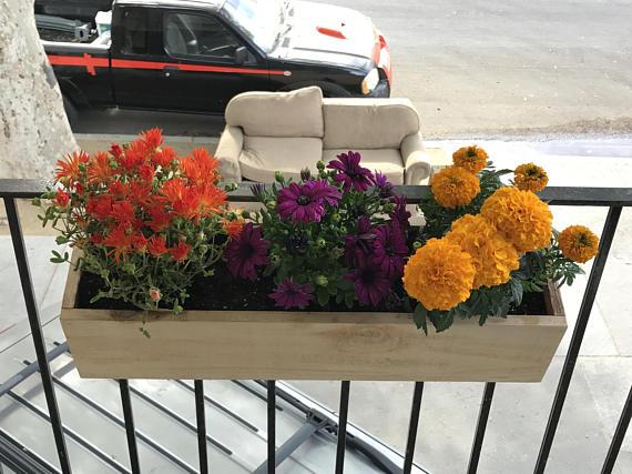 Balcony Rail Planter Box | Apartment balcony garden, Planter ... on rail hardware, rail road ties, rail travel, split rail fence, rail projects,