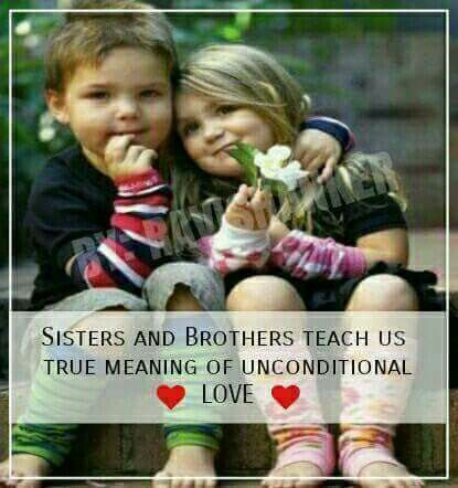 Our Sisters And Brothers Teach Us What Unconditional Love Is 3 Tag