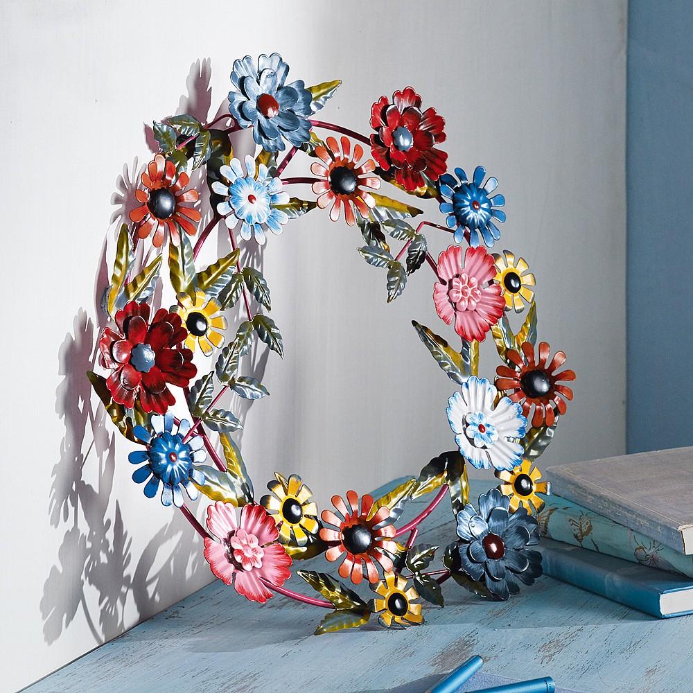 Liski Metal Wreath Wall Art & Mirrors Culture Vulture