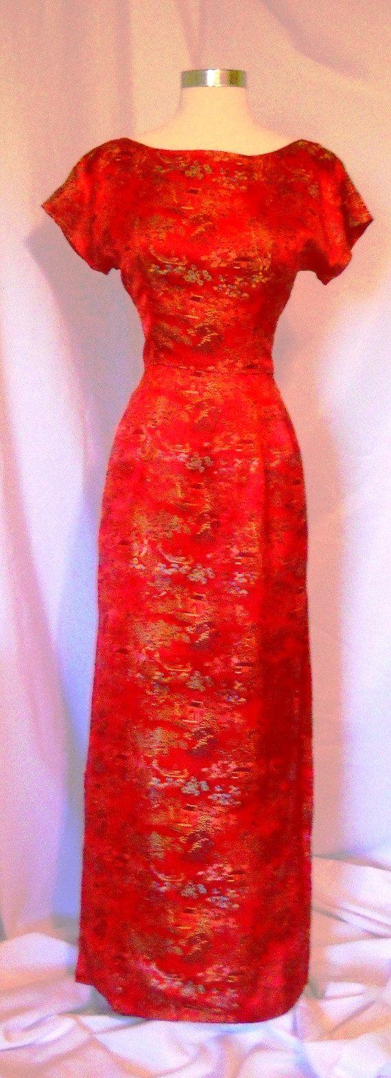 Us china silk dress peony brand shanghai china by imagiporium