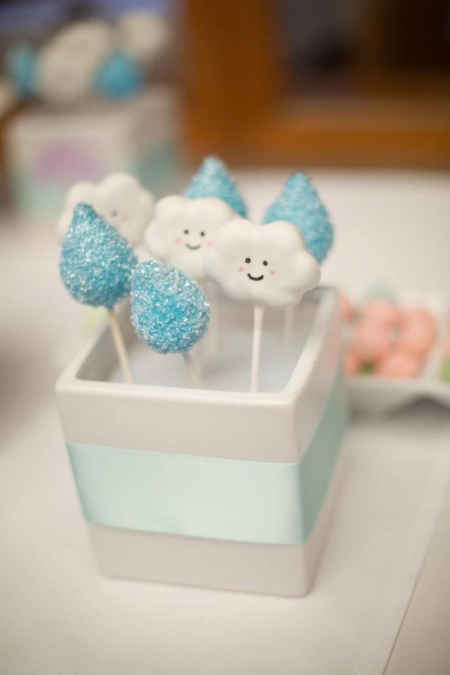 Raindrop & cloud cakepops