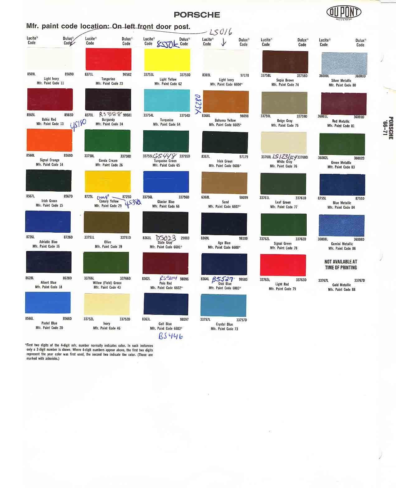 Porsche Colors Car Paint Colors Car Painting Porch Colors