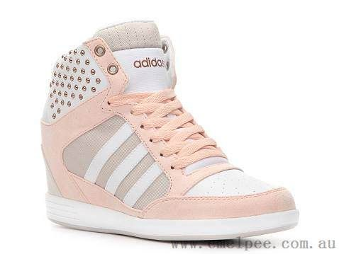Women's Adidas NEO High Tops Shoes Pink/White