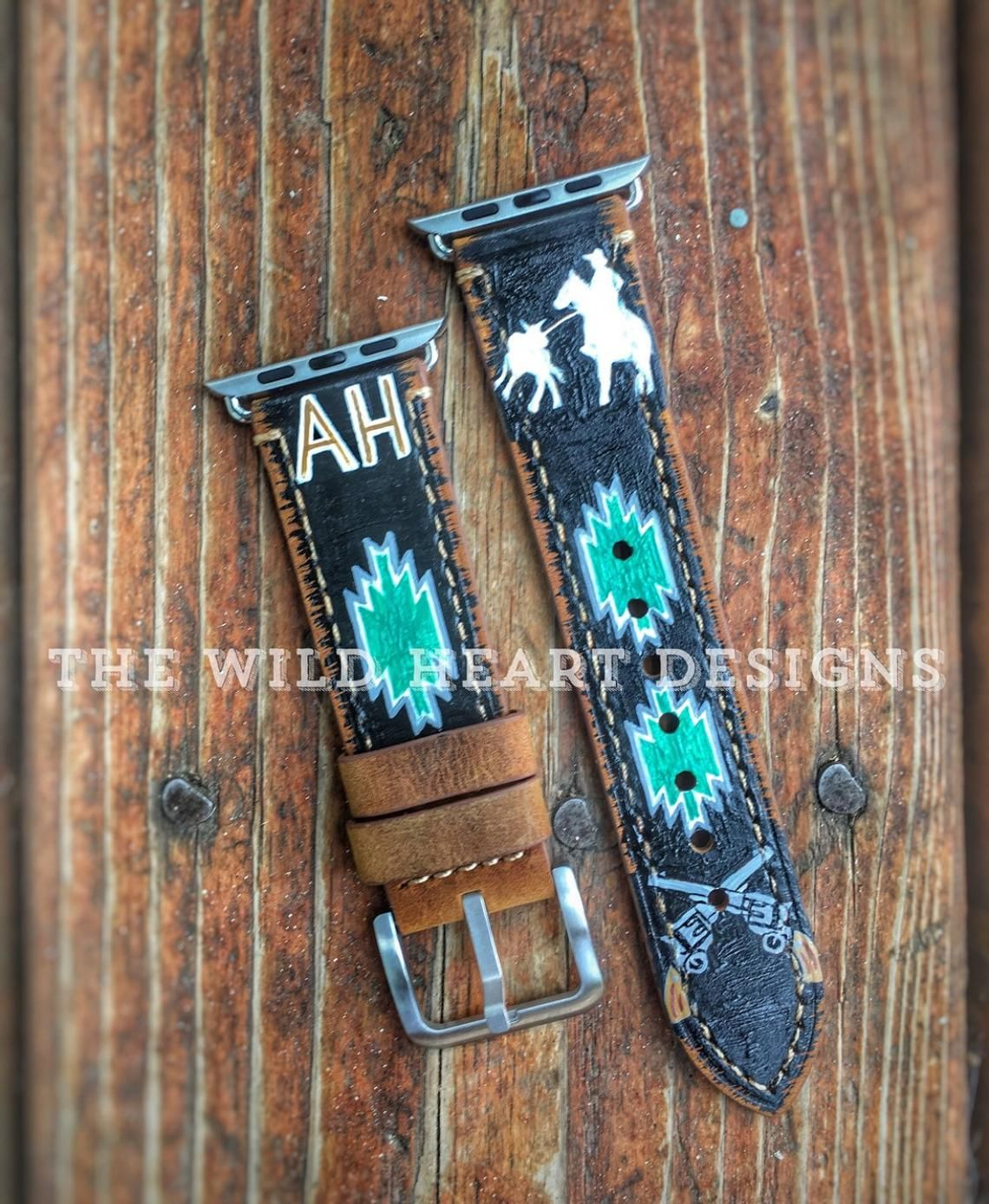 Custom order Apple Watch band *hand painted in 2020