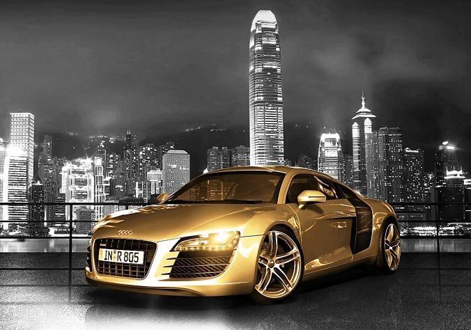 Gold Chrome Audi R8 The Famous Supercar Super Cars Audi R8 Wallpaper Car Wallpapers