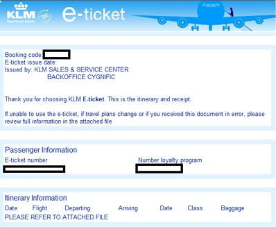 Watch Out For Fake KLM Etickets My Stuff Pinterest - Invoice klm