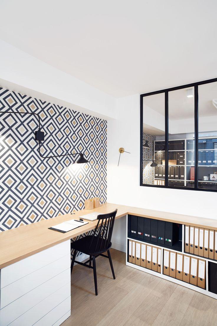 am nagement de bureaux du studio elodie cottin paris xvii 2016 workroom pinterest. Black Bedroom Furniture Sets. Home Design Ideas