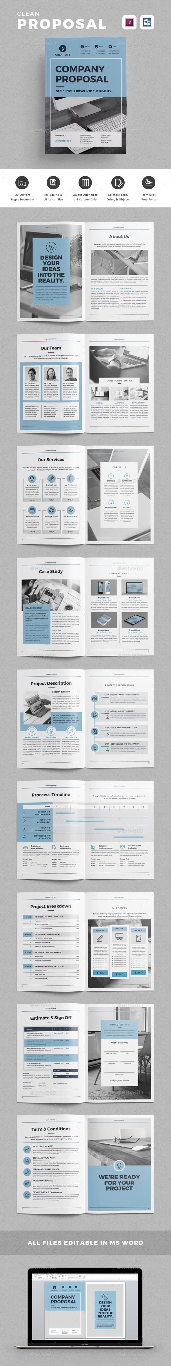 Proposal — InDesign INDD #project #presentation • Download ➝ https ...