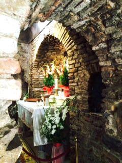 Little shrine at the stone house of the #Virgin Mary at #Ephesus, Turkey. #catholic