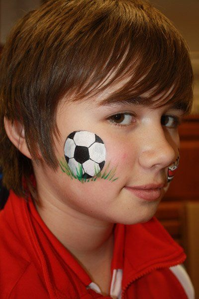 That My Is What A Soccer Ball Should Look Like Face Painting Inspiration Pinterest And Paintings